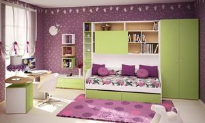 Сеть мебельных салонов «Мирта», (8352) 43-00-23 «Изюминка» детской коллекции — многофункциональный шкаф-модуль, позволяющий разместить не просто тахту, но и кровать с письменным столом.
